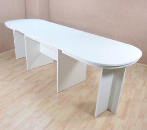Esstisch oval weiß  Details zu Kulissentisch oval weiß Auszugtisch Esstisch Esszimmertisch  ausziehbar Auszug