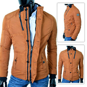 Slim S Xxl Fit Jacket Zip Only Brown Cipo Winter Baxx Size amp; Buttons Mens Down zOCnRZ7nwq