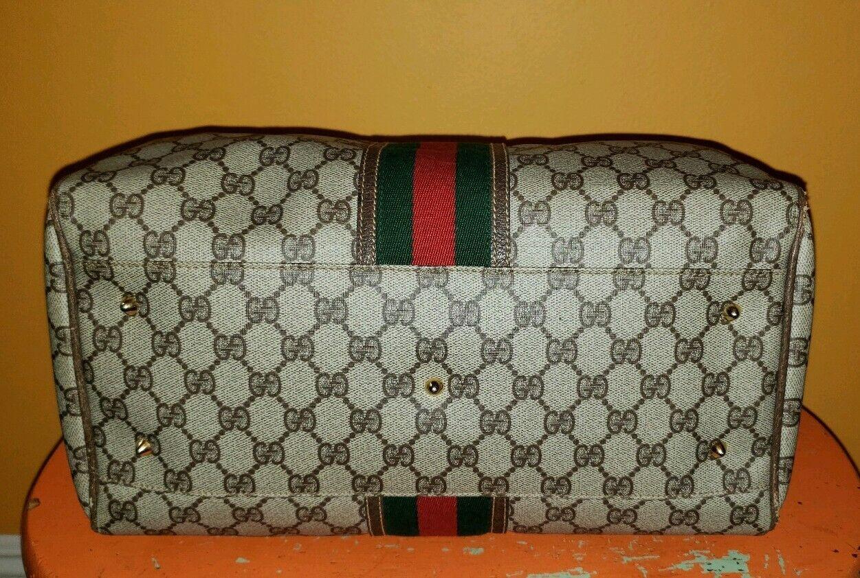 Vintage Gucci GG Monogram Boston Brown Speedy Bag… - image 4