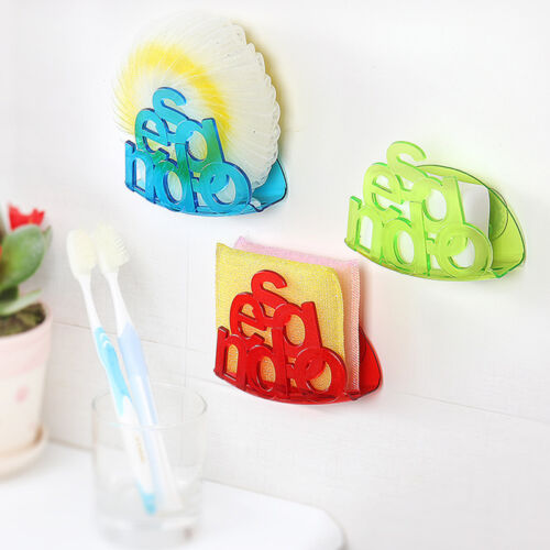 Suction Cup Bath Kitchen Sink Storage Basket Holders Creative Sponge Drain Shelf