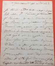 Juliette DROUET - Belle lettre autographe signée à Victor Hugo