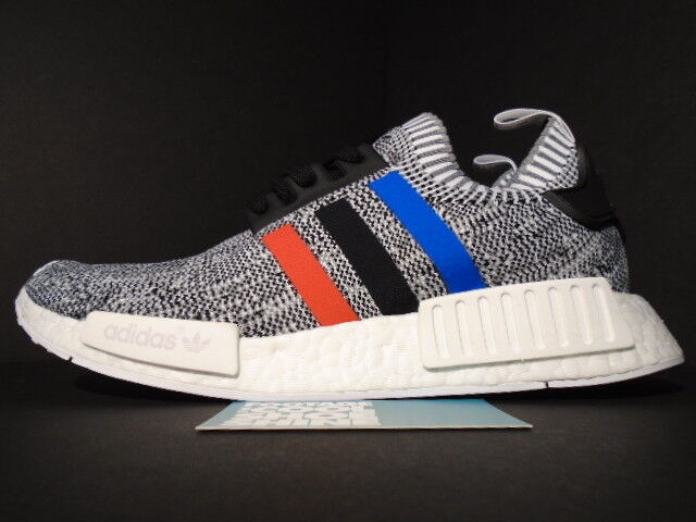 0c39671569908 Men s adidas NMD R1 Primeknit Tricolor White Bb2888 Gray Glitch US Size 8.5  for sale online