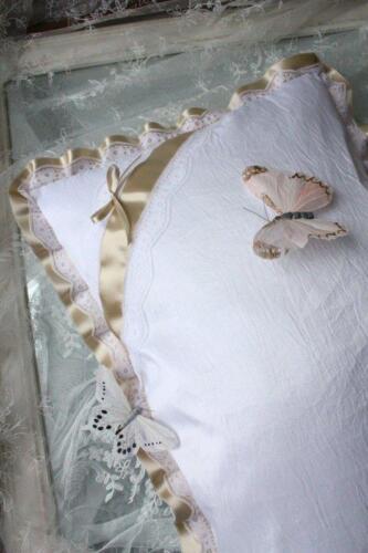 Taufkissen passend zu Taufkleid Kissen Taufe weiss Taft