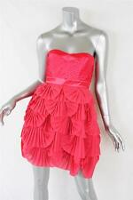 LIPSY VIP Pink Strapless Fan-Pleated Short Mini Bone Babydoll Dress 6/10 NEW+TAG