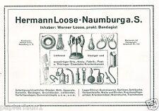 Bandagen Loose Naumburg Reklame von 1921 Protese Korsett Gummi Beinprotese Band