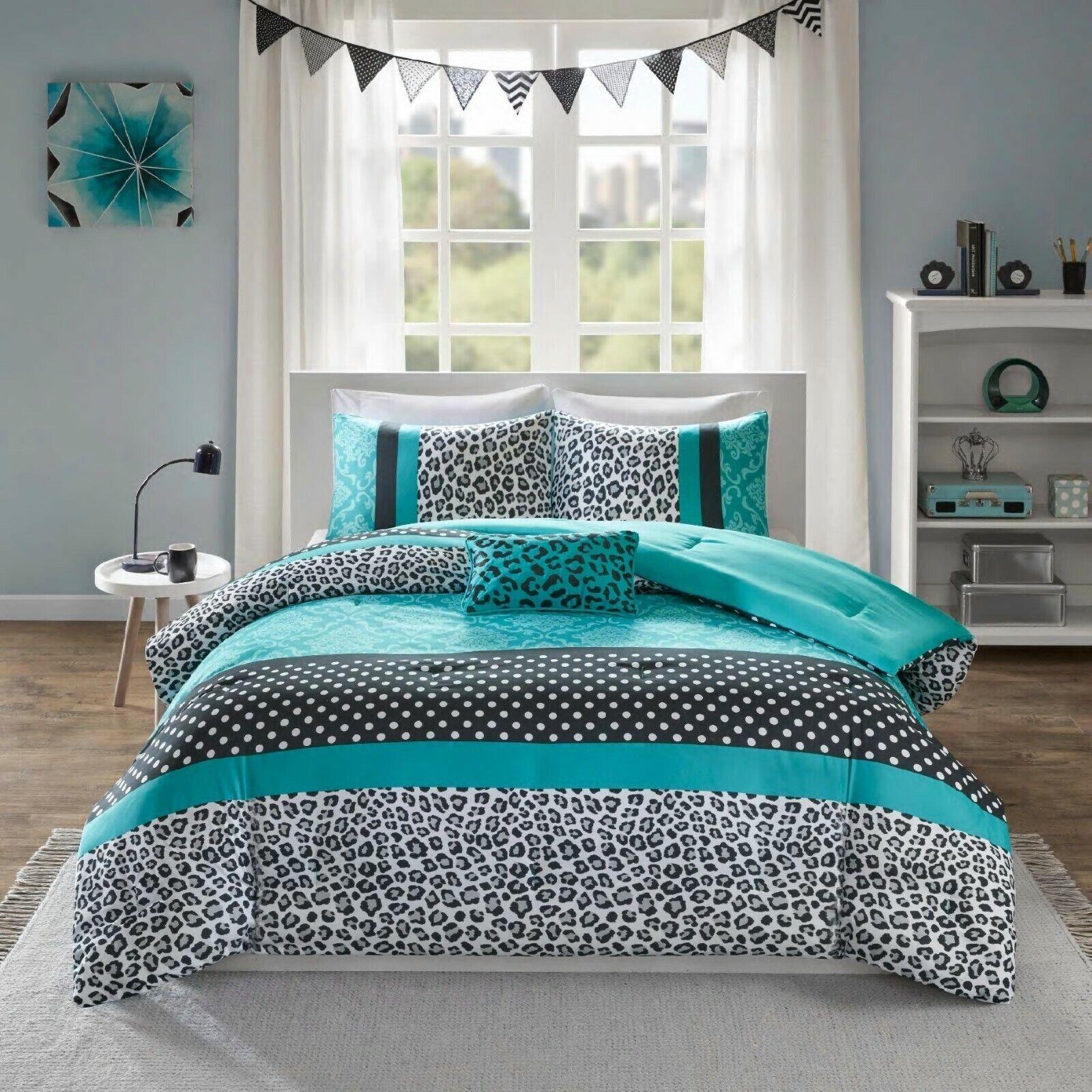 Teen Comforter Set Full Queen Pink Teal Purple Polka Dot Bed Bedding Bedroom For Sale Online Ebay
