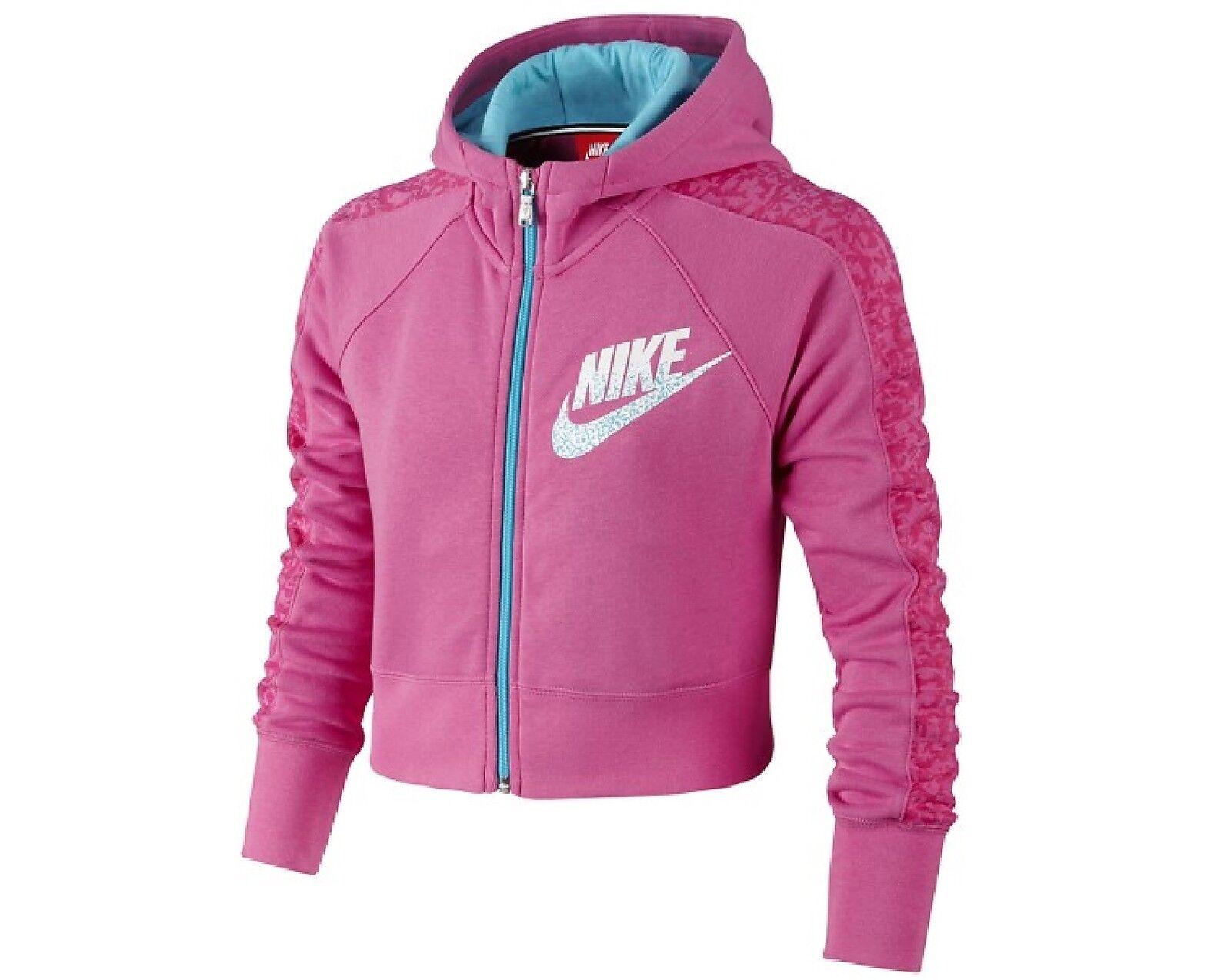 NIKE 645103 - Sweat-Shirt court à capuche zippé - Fille Tennis Sport NEUF