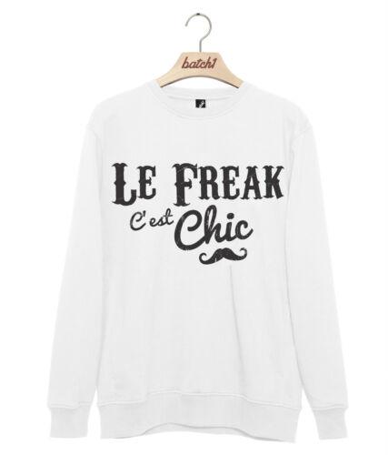 LOTTO 1 le freak c/'est chic Retro Slogan Freak Chic Felpa Maglione Da Uomo