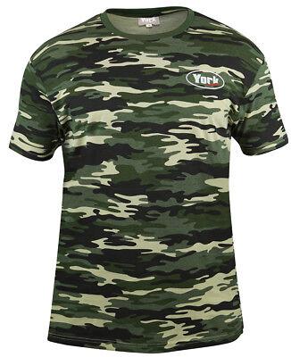 Prezzo Più Basso Con York Camo T-shirt Non Solo Per Pescatore 100% Cotone-