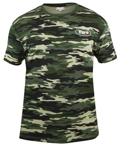 Hemden & T-Shirts Bekleidung YORK camo T-Shirt nicht nur für Angler 100% Baumwolle
