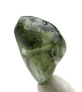 moldavite bead polished gemstone meteorite