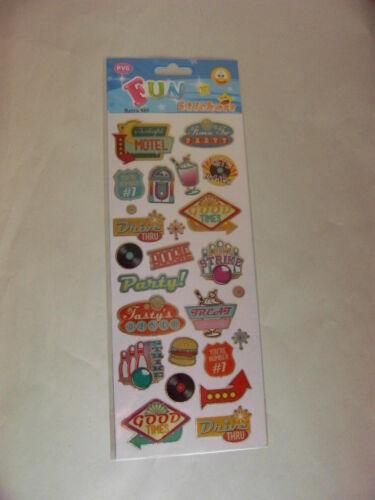 STICKER SHEET 2 sheets Retro Fun Stickers 989