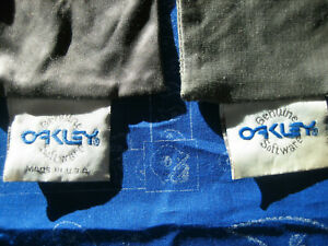 Lot-of-Two-2-Vintage-Oakley-Frogskins-Plutonite-Lens-Cleaning-and-Carry-Bag-Gray