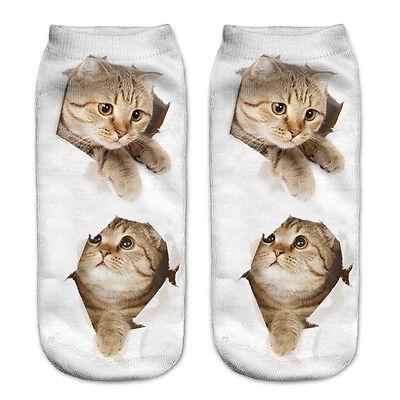 Fashion Unisex Animal Socks Cotton 3D Printed Animals Low Cut Ankle Socks 1 Pair