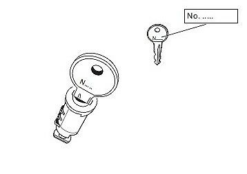 Thule Schlüssel N132 N 132 Ersatzschlüssel für Heckträger Dachboxen Dachträger