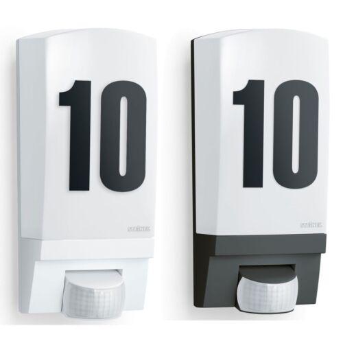 Steinel Hausnummer Beleuchtung Außenlampe Hausnummernleuchte Weiß//Schwarz