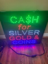 Pawn Shop Cash For Gold Sliver And Coins Led Illuminated Sign