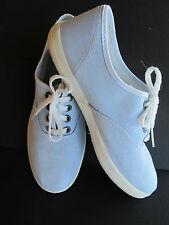 VTG 80's~ROBINS EGG BLUE SNEAKERS/TENNIS/DECK SHOES~WOMENS 7~NO BRAND~ROUND TO