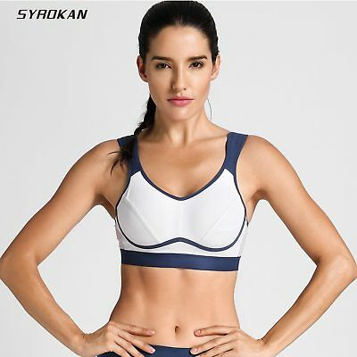 SYROKAN Womens High Impact Support Full Coverage Bounce Control Underwire Workout Sports Bra
