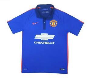 Manchester United 2014-15 Authentic TERZO Camicia (eccellente) M SOCCER JERSEY