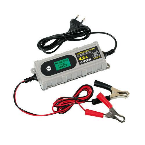 OFFERTA 70180 Amperomatic Digit, caricabatteria intelligente, 6/12V - 0,8/4,2A