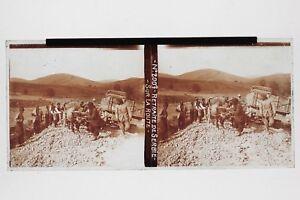 Serbia-Francia-Grande-Guerre-1914-18-WW1-Foto-Placca-Stereo-6x13cm-Vintage
