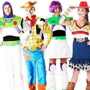 Image is loading Disney-Toy-Story-Adults-Fancy-Dress-Buzz-Jessie-  sc 1 st  eBay & Disney Toy Story Adults Fancy Dress Buzz Jessie Woody Mens Ladies ...
