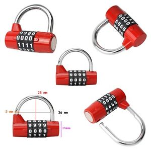 1 pc Practical Travel Bag Luggage Security Lock Padlock 4 Digit Combination