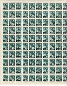 Stamp-Germany-Bohemia-Czechoslovakia-Mi-023-Sheet-WWII-Fascism-War-Linden-MNH