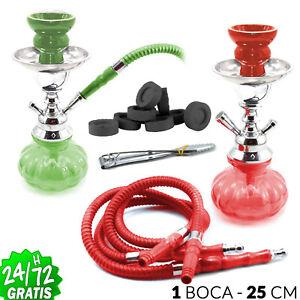 Cachimba-Shisha-RASTA-Original-25-cm-1-Boca-Pipa-de-Agua-Narguila-Fumar-Aspirar