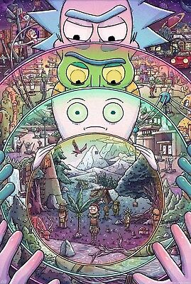 Rick And Morty TV Series Animation Poster Print T478 A4 A3 A2 A1 A0|