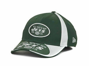 New York Jets New Era Hat Fitted Ball Cap M/L S/M A GAP Green White 39 Thirty NY