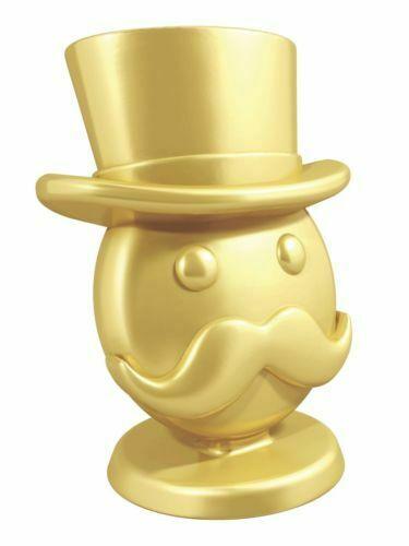 Señor monopolio Token Juego Monopoly De Oro Oro símbolo Pieza Rara señor emoji juego jugando