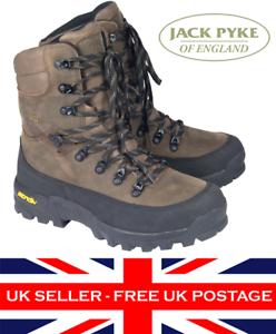 Jack Pyke Hunters Boots Waterproof Leather Mens Hunting Footwear Vibram Brown