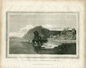 Portugal-Castle-Of-Punhete-On-The-Banks-Of-The-Tagus-Engraved-By-Heath-Publicad
