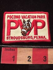 Vtg Horse Log PVP Pocono Vacation Park Stroundsburg Pennsylvania Patch 60WA
