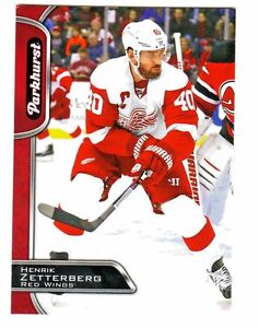2016-17-UD-Parkhurst-RED-Parallel-111-HENRIK-ZETTERBERG-Red-Wings-Retail-Only