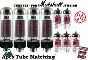 Marshall JVM410H Tube Set JJ Electronics Tesla with matched quad EL34