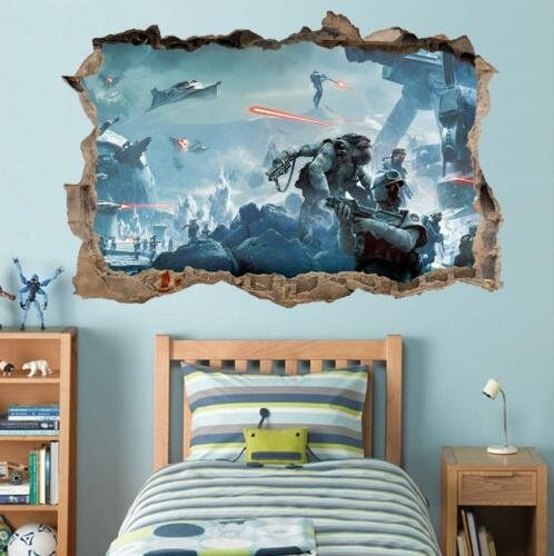 Star Wars Battlefront Smashed Wall Decal Removable Graphic Wall Sticker Art H290