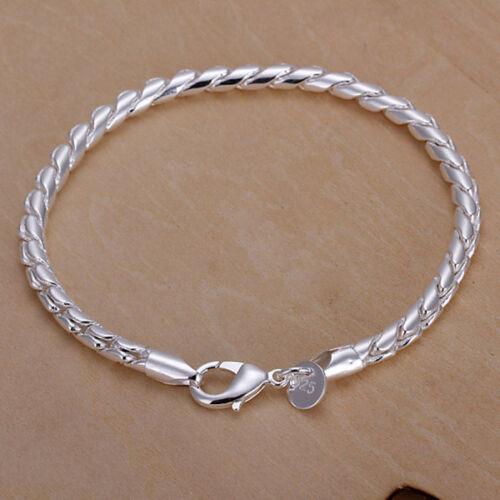 Wholesale New Fashion Solid 1 Argent Femme Bracelet TB167 pour Noël