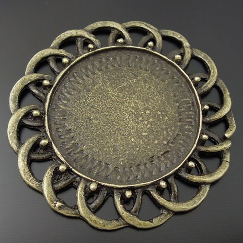 30PCS Vintage Bronze Tone Alloy Tray Cameo Setting 10*10mm Charm Findings 33122