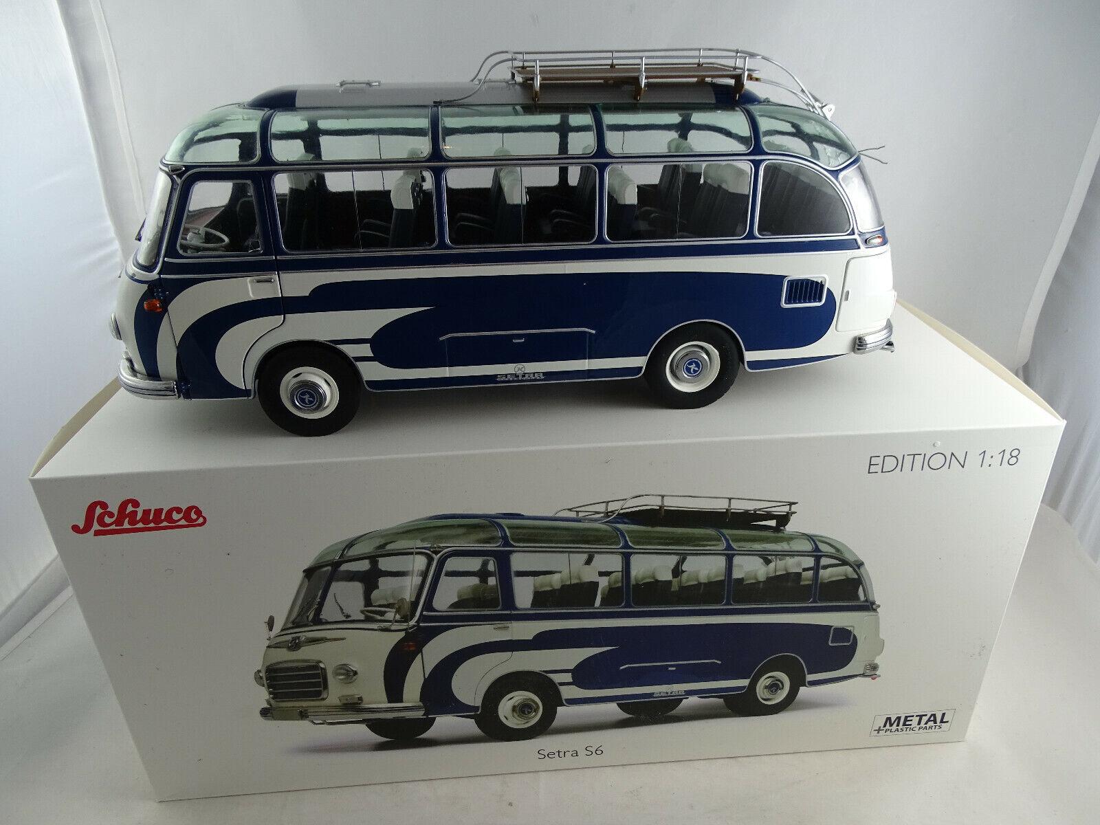1 18 Schuco 450034700 Setra S6  Reisebus blue  Neu OVP
