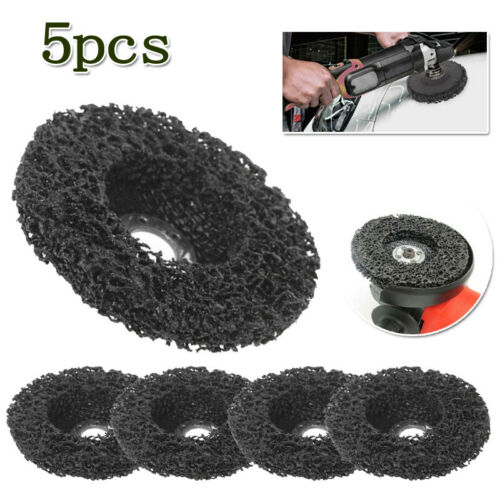 5 Pieces Black Poly Strip Disc Wheel Paint Rust Removal Clean For Angle Grinder