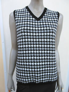 Basler-Womens-Black-Mix-Check-Sleeveless-Wool-Blend-Jumper-size-16-18