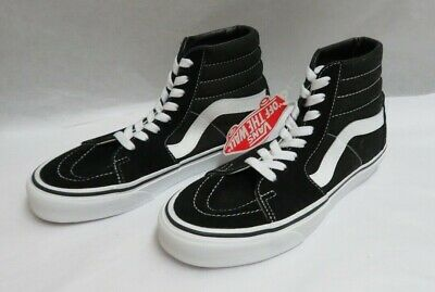 Vans Sk8-Hi Lace Up Shoe Black Suede