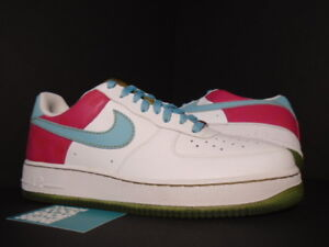 a5e871a1c1b7 2007 Nike Air Force 1  07 WHITE PARADISE AQUA CERISE PINK GOLD ...