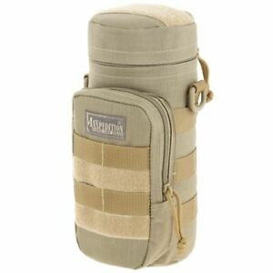 """Maxpedition Water Bottle Holder MOLLE Pouch 12"""" 40oz Tactical H2O Camp Hike TAN-"""