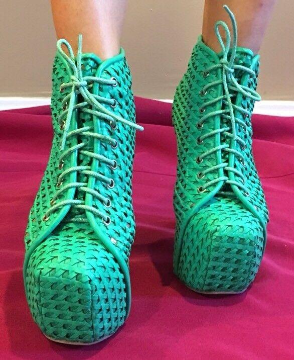 Jeffrey Campbell 7M Lita Color verde Talla 7M Campbell a619e1