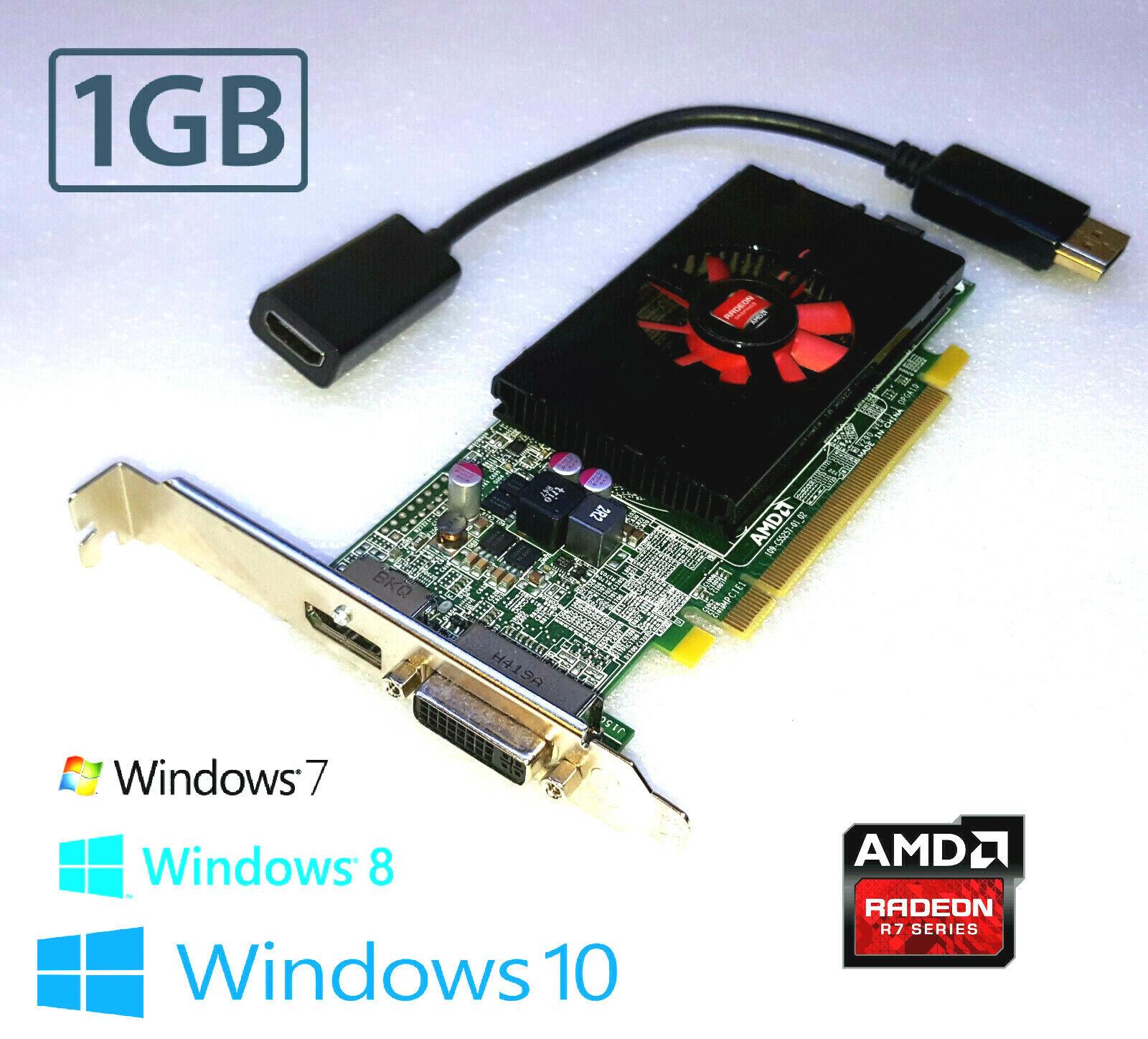 HP Compaq Pro 6000 6200 6250 6300 Tower HD 1GB DVI DP HDMI 128-Bit Video Card