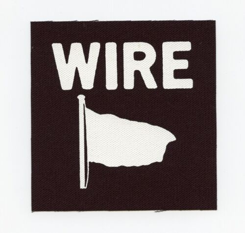 WIRE Pink Flat Post Punk Rock Canvas Patch Gang of Four PIL Television Buzzcocks